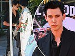 Austin Butler looks like Elvis Presley black outfits after he's tapped to star as the music icon