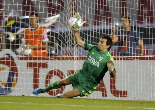 'Thank God for all of us' - former River Plate goalkeeper on his penalty kick save in 2014 Copa Sudamericana semifinal against Boca Juniors