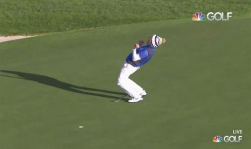 See the wild moments after Suzann Pettersen won Europe the Solheim Cup against USA