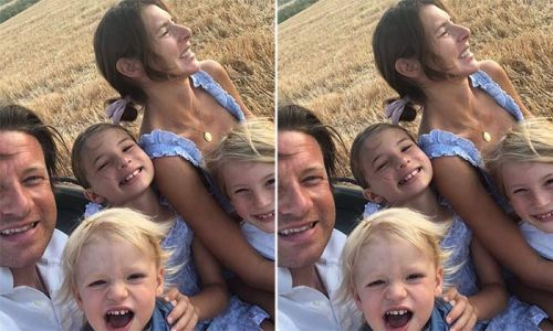 Jools Oliver reveals River and Buddy's incredible bond with heartmelting photo