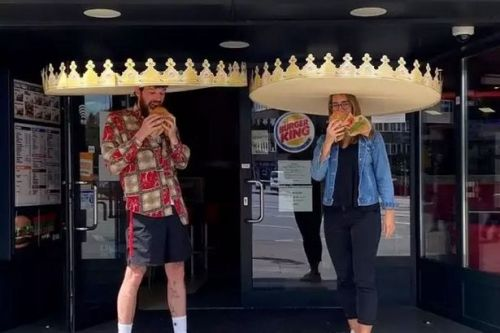 Burger King launches social distancing crowns to make sure customers keep apart