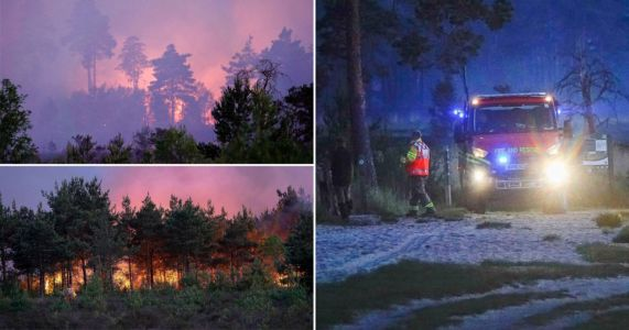 Wildfires rage across the UK as country continues to bake