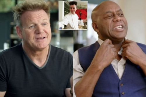 Gordon Ramsay joins celeb chefs to gush over Gary Rhodes' rock star hairdo in new scenes
