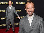 Jude Law beams at New York City screening of his new mystery thriller The Rhythm Section