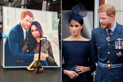 Meghan Markle and Prince Harry mosaic removed from Windsor shopping centre