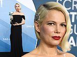Fashion icon Michelle Williams reimagines feather brooch as hair accessory at SAGs