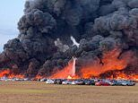 Huge fire at a Florida airport has destroyed more than 3,500 hire cars