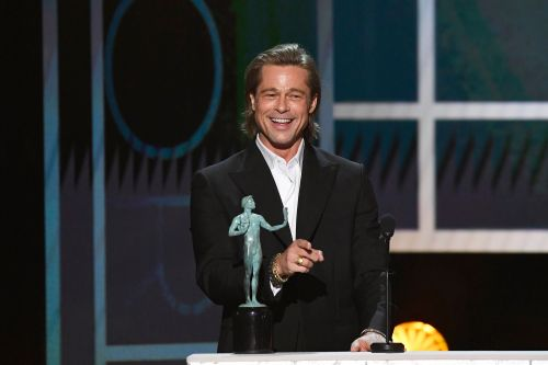 Brad Pitt 'shades' Angelina Jolie and Jennifer Aniston as he pokes fun at 'not getting on with wife'