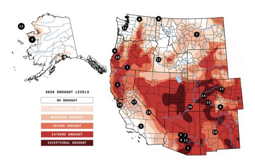 From Alaska to California, the climate is off-kilter in the West