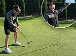 Golf fanatic Gareth Bale uses time off to finesse his putting as he sinks outrageous trick shot