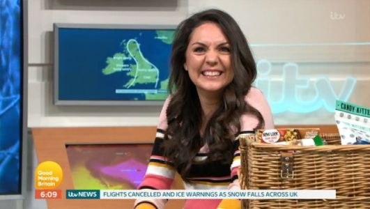 Good Morning Britain's Laura Tobin left red-faced over 'phallic' symbol on her weather map as she battles 'hangover from hell'