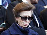 Princess Anne cheers on Scotland during their Six Nations rugby clash with Italy in Rome
