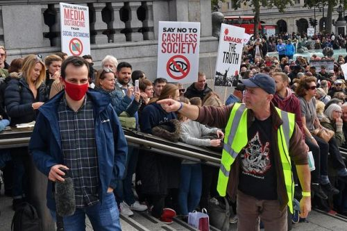 Thousands Cram Into Trafalgar Square For Anti-Lockdown Protest