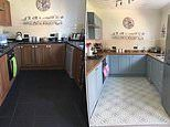 Savvy mum who was quoted £5, 000 for a new kitchen gave the space a modern makeover herself for £144