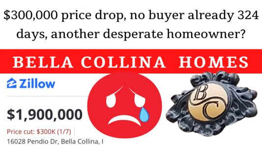 $300,000 price drop, no buyer already 324 days, another desperate bella collina homeowner?