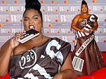 BRITs 2020: Lizzo is a sight to behold in Hershey's chocolate bar dress