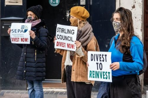 Climate protesters challenge council on fossil fuels pension fund investment
