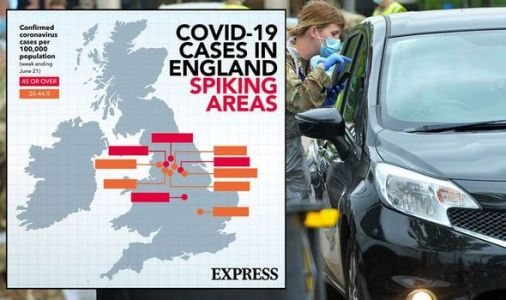 Coronavirus rates in England: Full list of where COVID-19 is rising