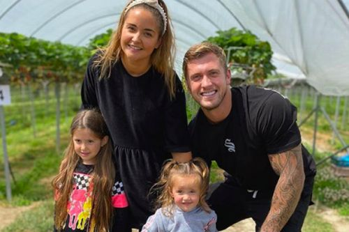 Jacqueline Jossa and Dan Osborne take daughters strawberry picking on family day