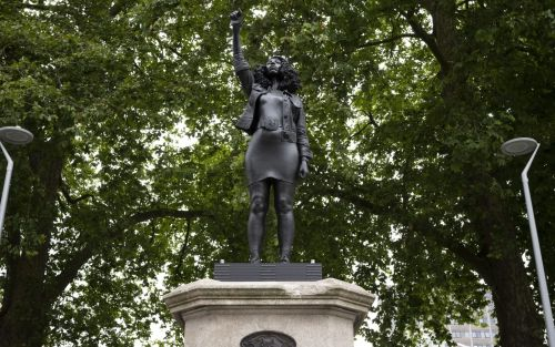 Edward Colston statue replaced with sculpture of Black Lives Matter protester