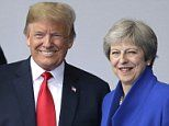 Final preparations are underway for Donald Trump's first visit to Britain