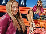 Jennifer Lopez puts on a leggy display as she unveils her Coach sneaker collaboration