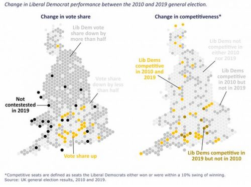 Lib Dems Have New 'Yellow Halo' Of Support In London And South East, Finds Study