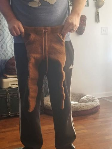 Woman 'sells' husband after he shrinks her favourite designer trousers to a size only a baby could fit