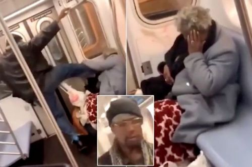 Thug brutally kicks and punches woman, 78, while onlookers just film it