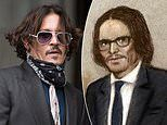 Court artist's sketch of Johnny Depp appearing in the High Court is ridiculed on Twitter
