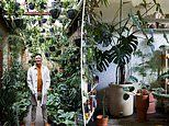 Architect, 32, transforms his home into a lush garden with more than 400 plants