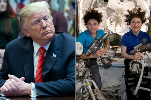 Donald Trump embarrassed by blunder during live call with female astronauts