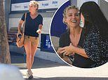 Elsa Pataky looks leggy in tan shorts as she steps out in Sydney