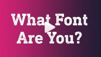 What font style are you? Find out with this Instagram filter