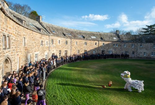 Spectacular lion dance to celebrate Chinese New Year at Moray school