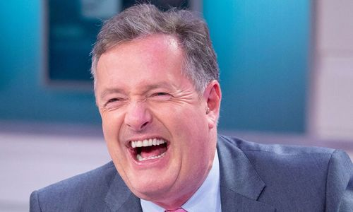 Piers Morgan hilariously falls off a chair live on air - watch video