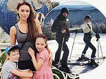 Una Healy shares snap with children as she brushes off ex-husband Ben Foden's shock baby news