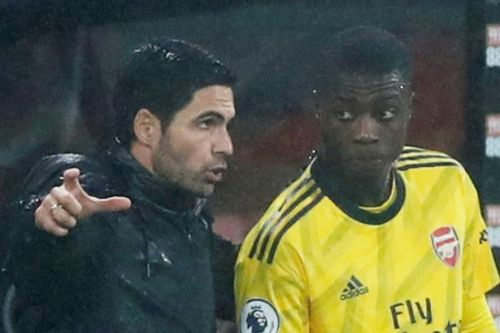 Mikel Arteta comments on Nicolas Pepe's body language as he makes Arsenal U-turn