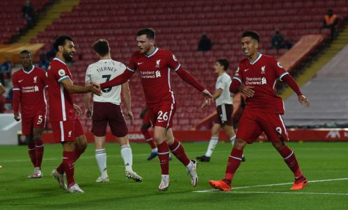 Andy Robertson laughs off his 'assist at the wrong end' after Liverpool's win over Arsenal