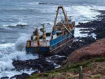 Ghost ship is washed up on Irish coast by Storm Dennis after drifting for thousands of miles