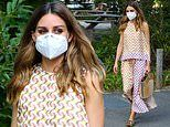 Olivia Palermo turns heads in a chic geometric patterned co-ord as she steps out