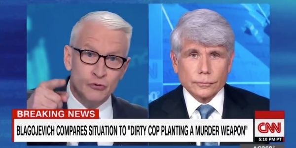 'It's still frankly just bulls--': Anderson Cooper calls out former Illinois Gov. Rod Blagojevich for claiming he's a 'political prisoner'
