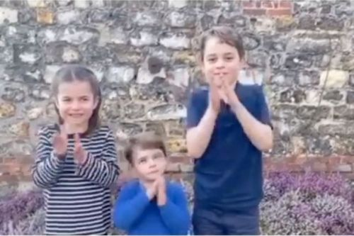 George, Charlotte and Louis join Brits around country as we Clap for our Carers