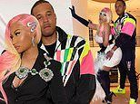 Nicki Minaj rocks two different racy looks as she poses up a storm with husband Kenneth Petty