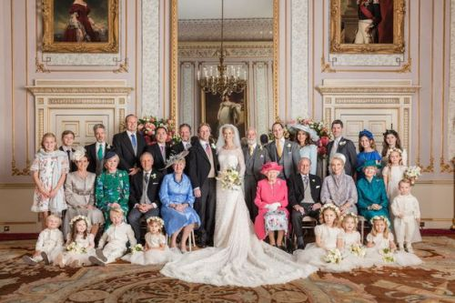 Queen and other royals smile proudly in official photos from Lady Gabriella's wedding
