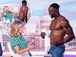 Good Morning Britain is branded 'sexist' after shirtless male strippers are spanked while gyrating