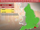 UK's coronavirus R rate falls below one for the first time in two-and-a-half months