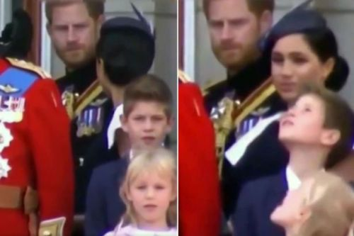 Royal fans think they've spied awkward moment when Meghan 'gets told off' by Harry