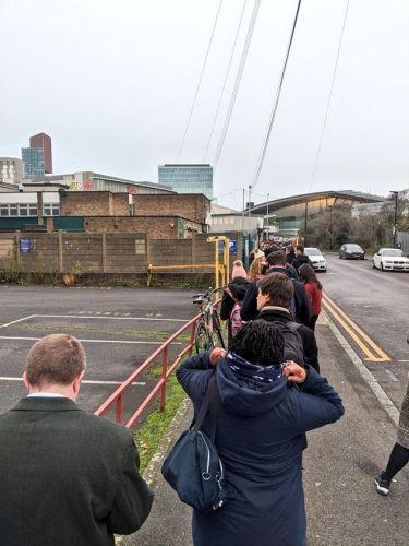 General Election 2019: Long Queues Pictured Outside Polling Stations