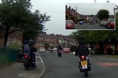 Girl, 12, robbed by moped gang outside school gates in shocking dashcam footage